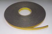 3M™ Scotch-Mount™ 9556В Двусторонняя лента на вспененной полиэтиленовой основе, черная, 3,0 мм х 12 мм х 16,4 м