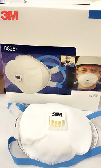 3М™ 8825 FFP2D Высококлассный респиратор с клапаном 8b9de4c1f1354