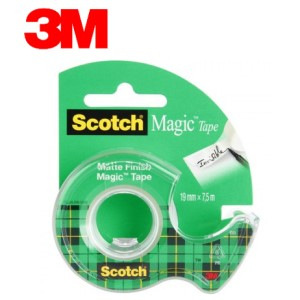 3M Scotch Magic 8-1975D Канцелярская клейкая лента матовая, с диспенсером